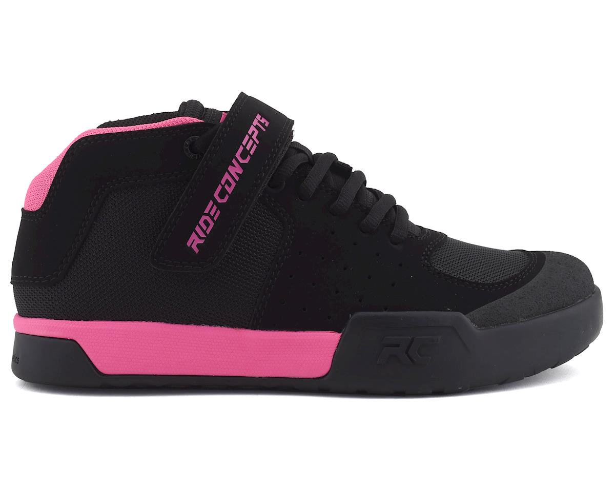 Ride Concepts Youth Wildcat Flat Pedal Shoe (Black/Pink) (5)