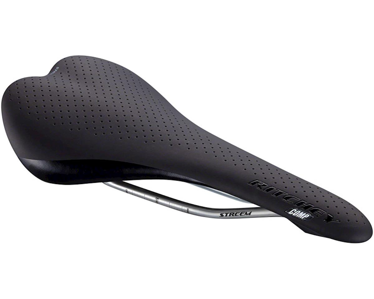 Ritchey Comp Streem Saddle (Black) (145mm Width) (CrMo Rails)