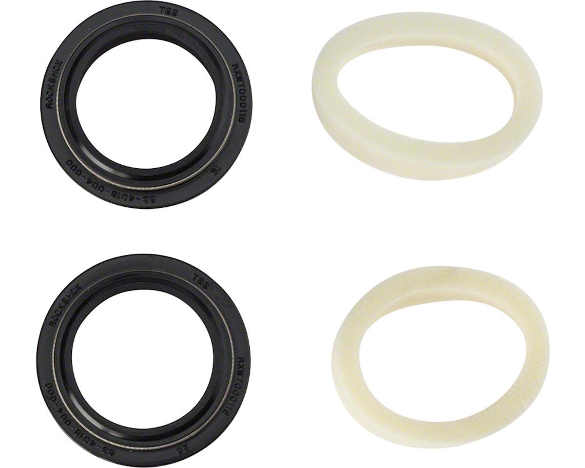 RockShox Dust Seal/Foam Ring: Black Flanged 32mm Seal, 10mm Foam Ring - Revelati