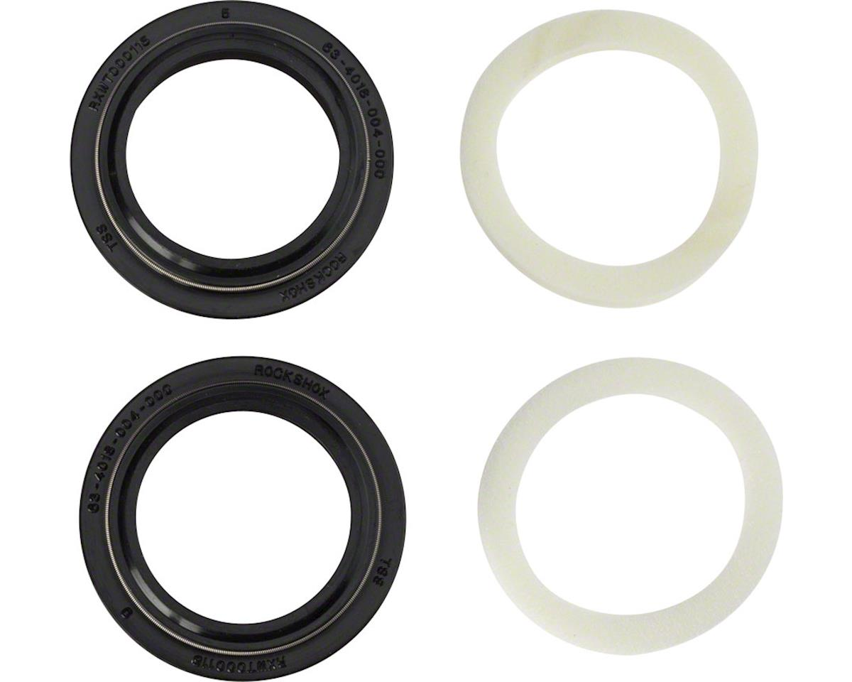 RockShox Dust Seal/Foam Ring: Black Flanged 32mm Seal, 5mm Foam Ring - SID A1-A3