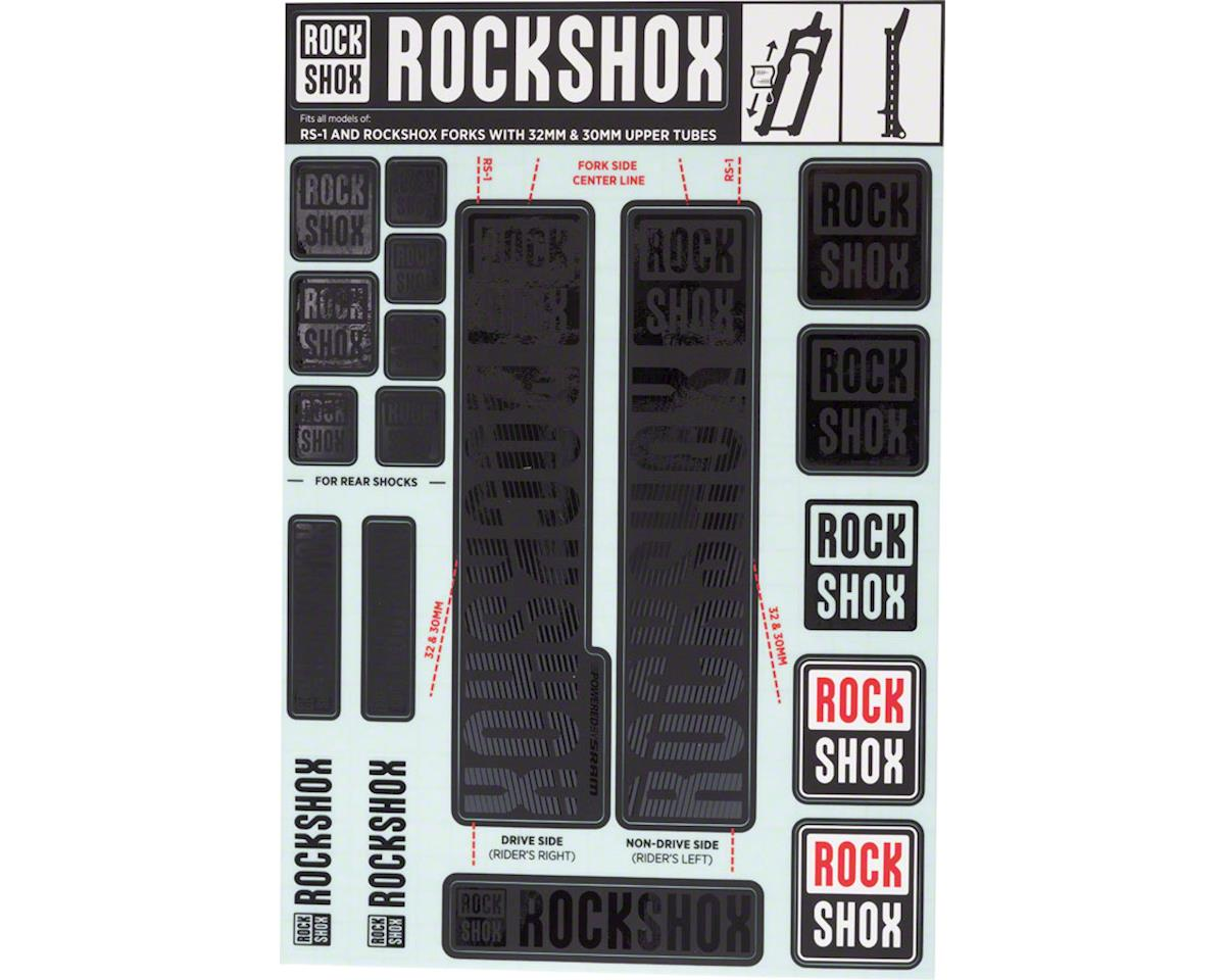 RockShox Decal Kit (30/32mm) (Stealth Black)