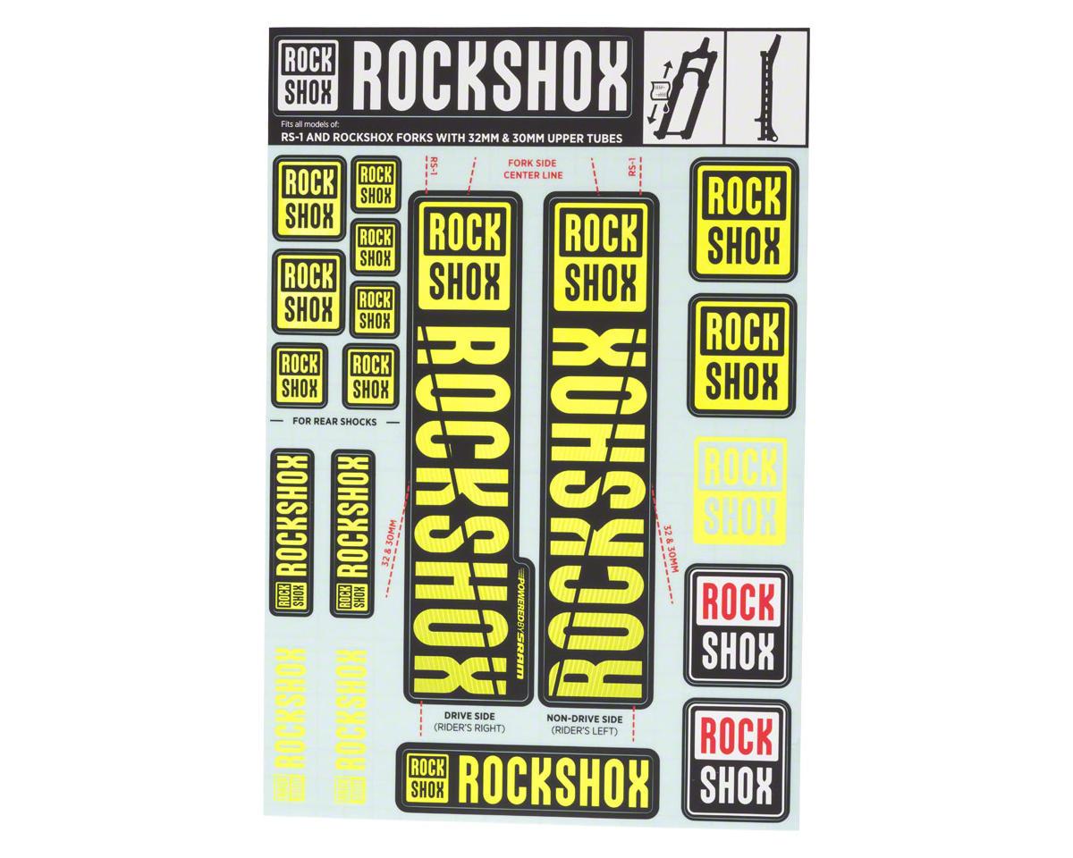 Rock Shox YARI 2018 Fork Decal Mountain Bike Cycling Sticker Adhesive Yellow