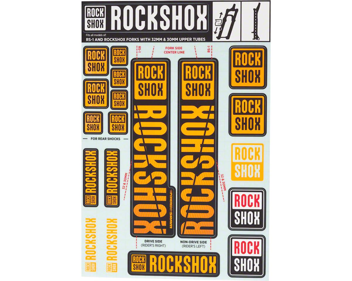 RockShox Decal Kit (30/32mm) (Orange)