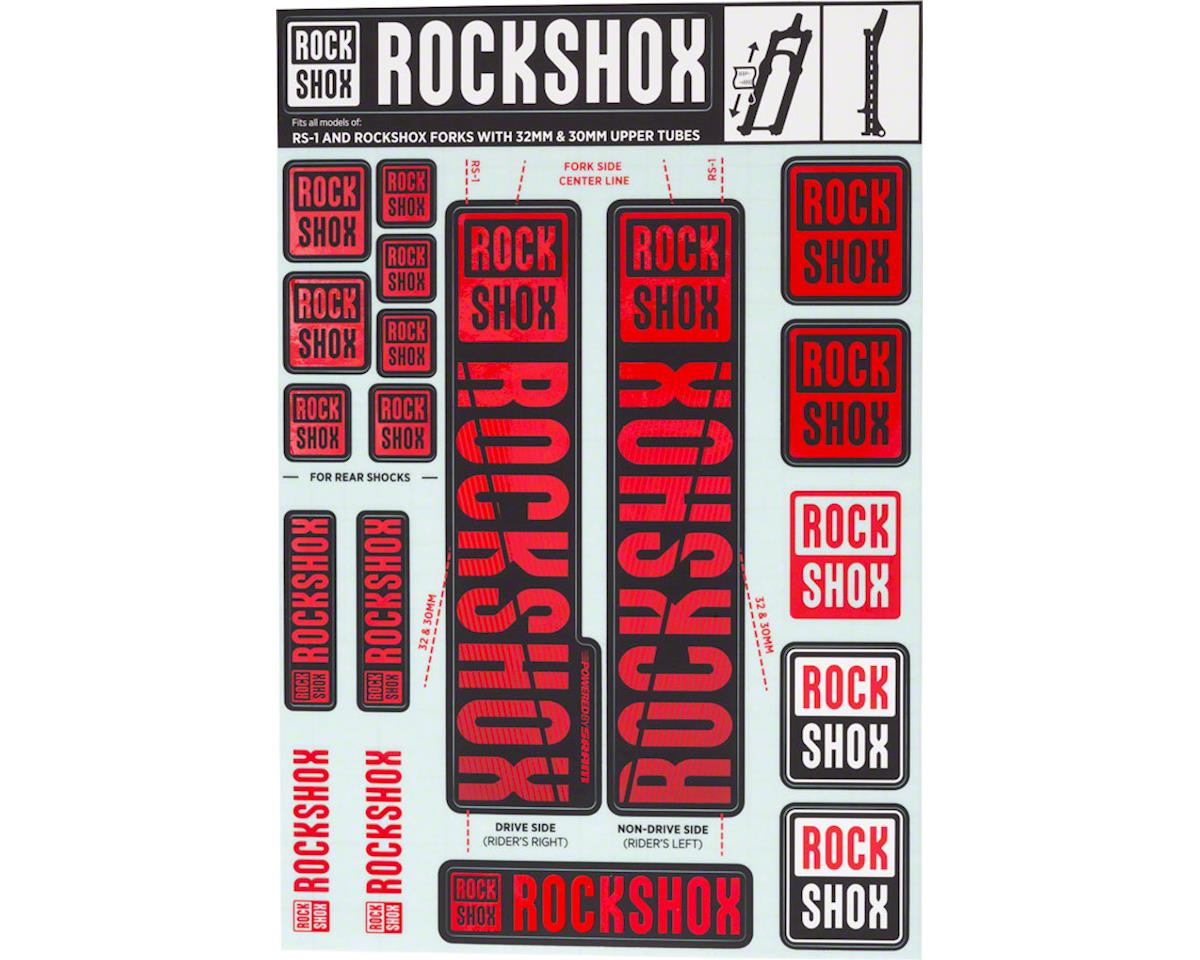 RockShox Decal Kit (30/32mm) (Red)