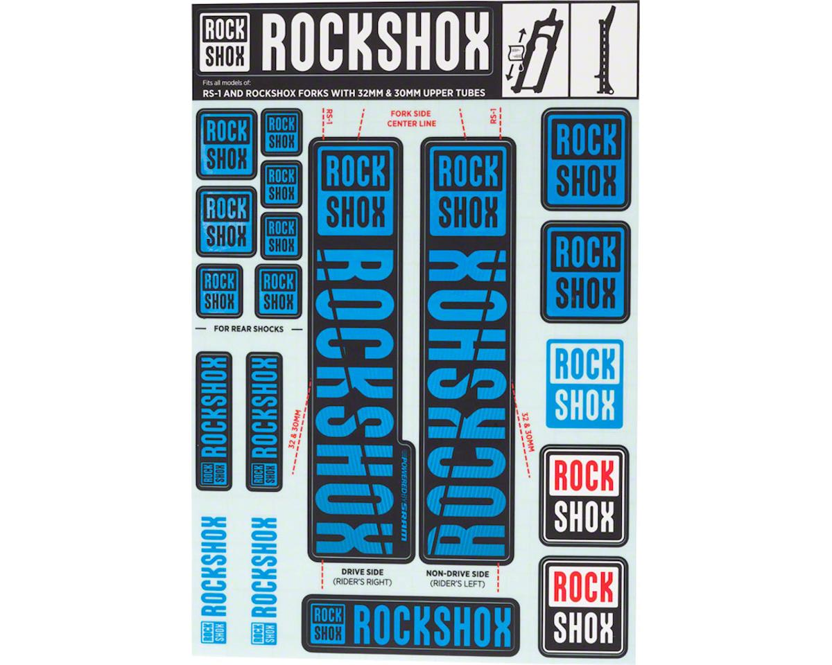 RockShox Decal Kit (30/32mm) (Blue)