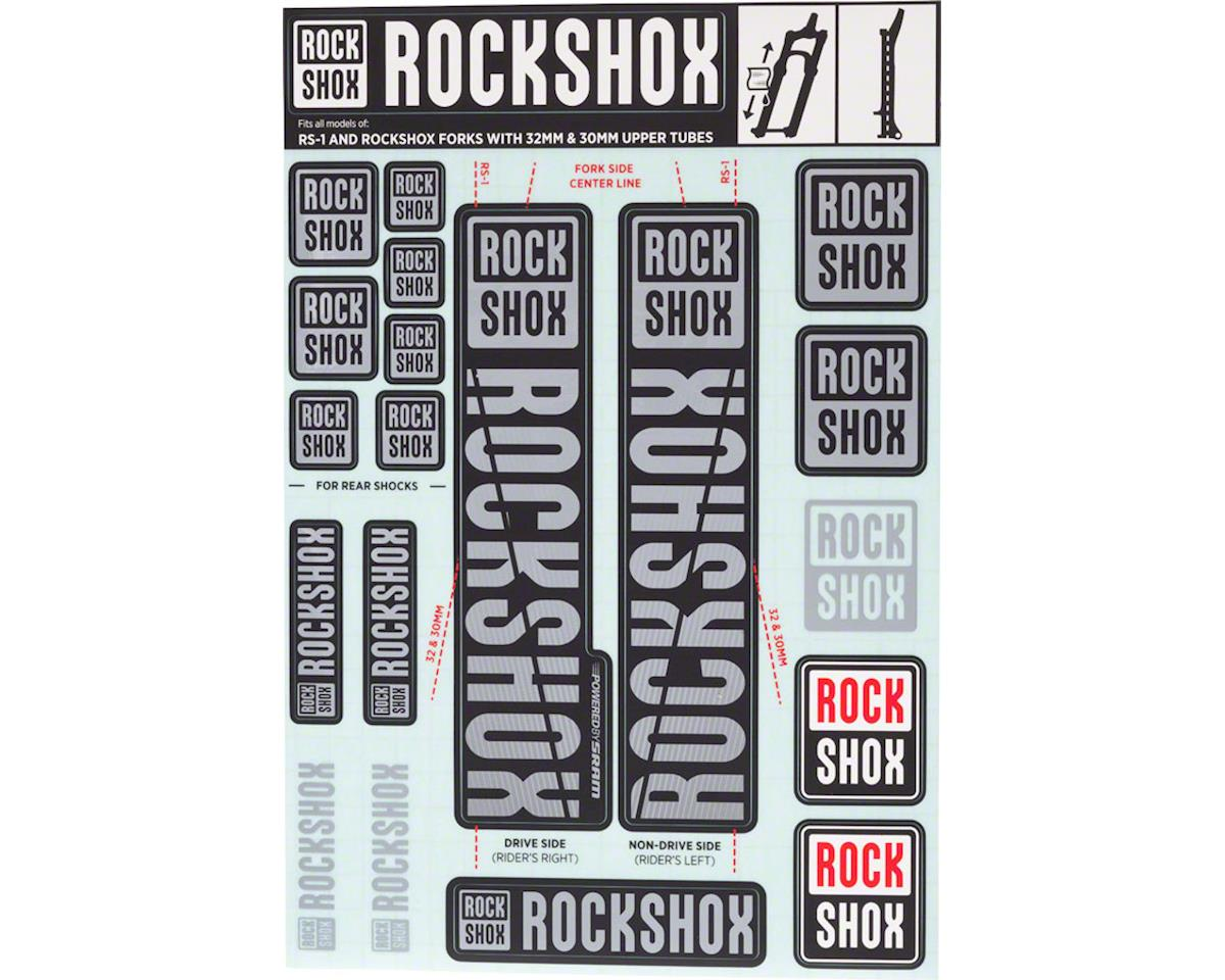 RockShox Decal Kit (30/32mm) (Grey)