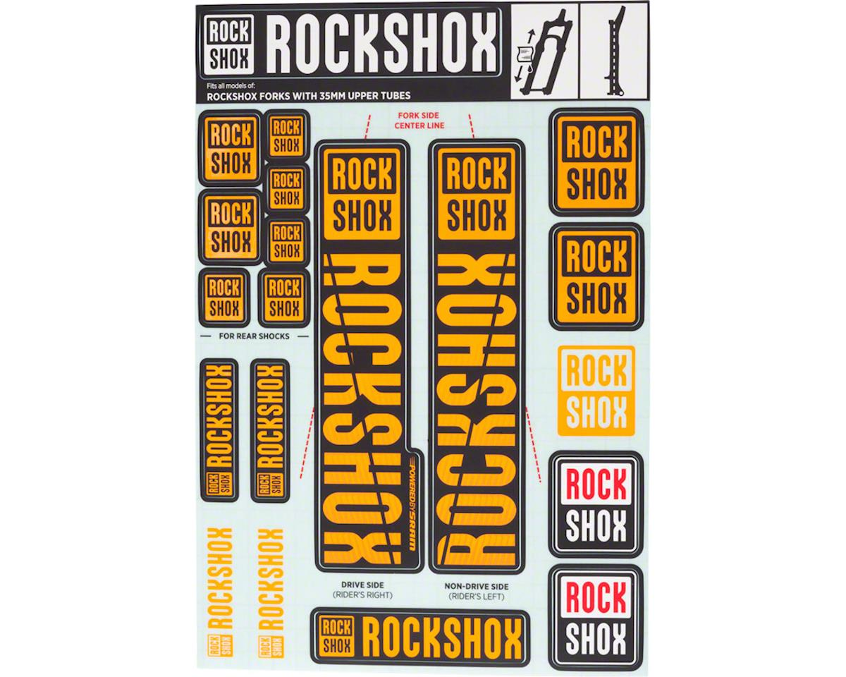 Rock Shox DOMAIN 2018 Fork Decal Mountain Bike Cycling Sticker Metal Torn