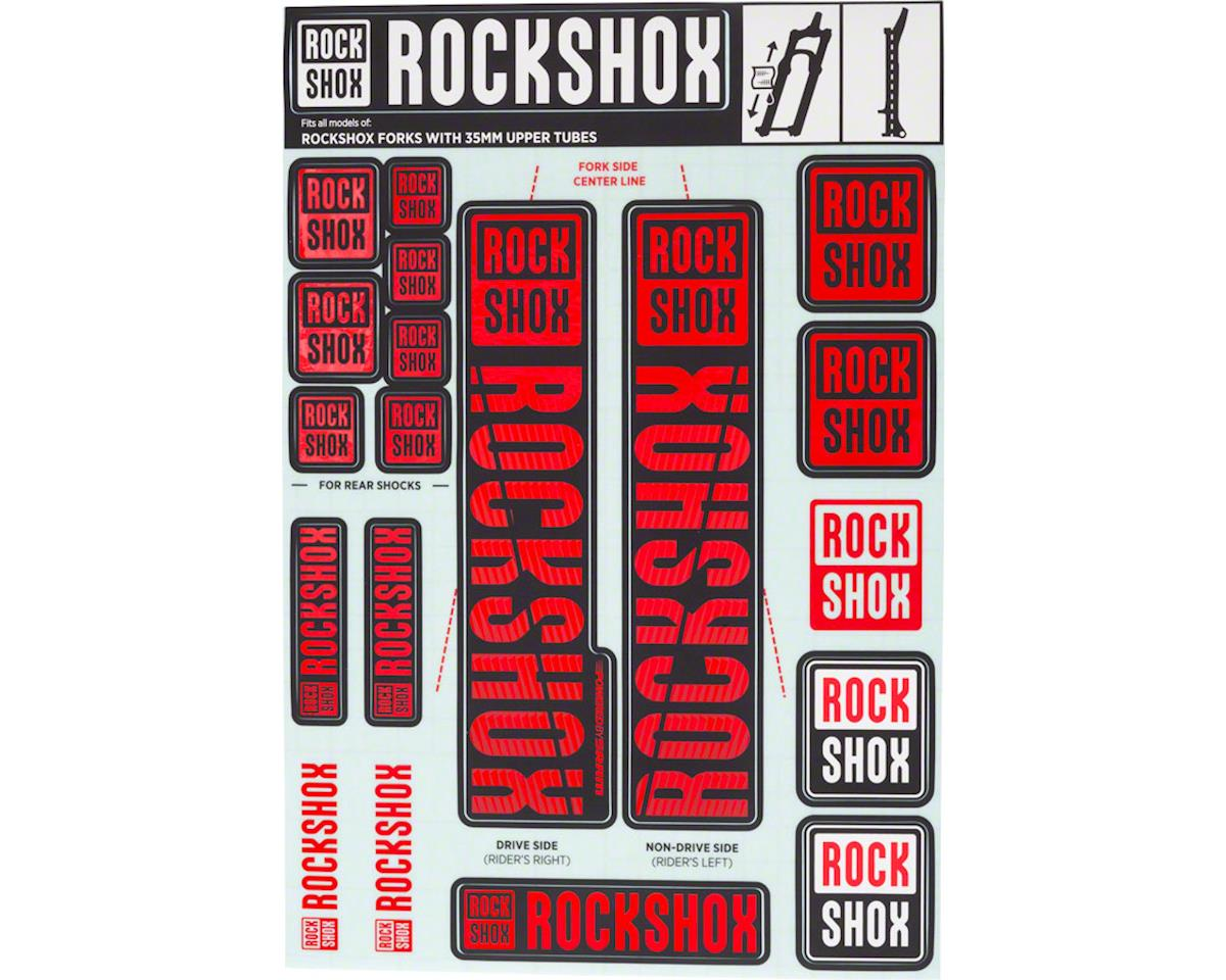 RockShox Decal Kit (35m) (Red)