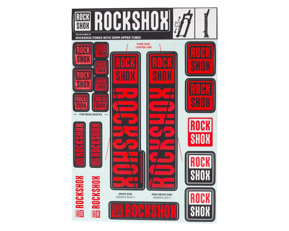 RockShox Decal Kit (35m) (Red)