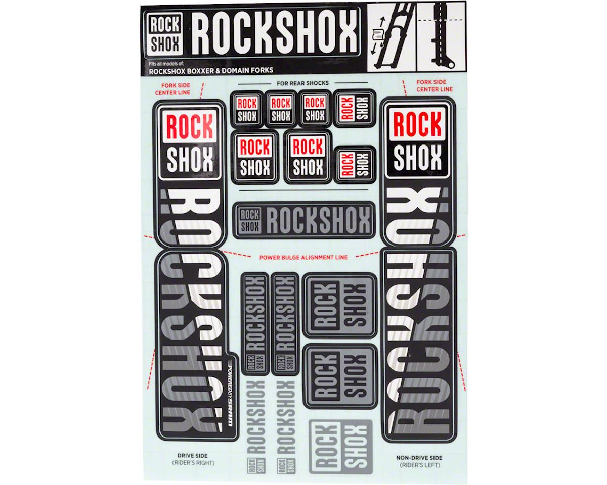 RockShox Decal Kit (35mm) (Dual Crown) (White)