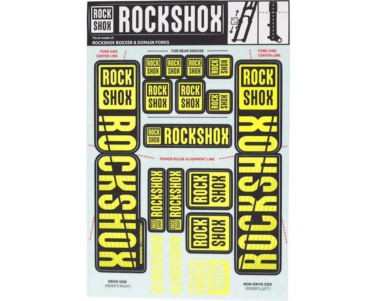 RockShox Decal Kit (35mm) (Dual Crown) (Yellow)