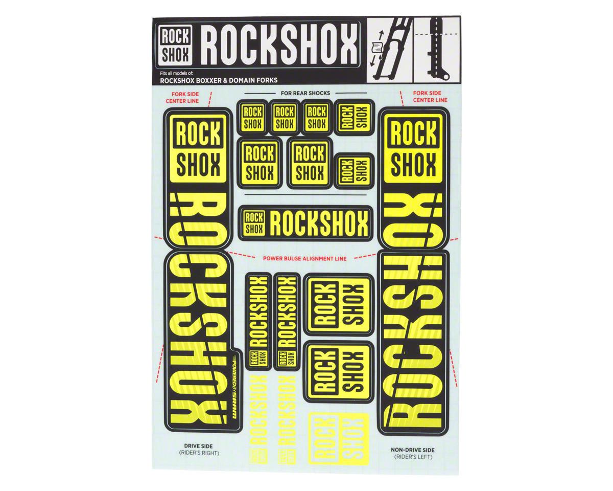RockShox Decal Kit (35mm) (Dual Crown) (Yellow)