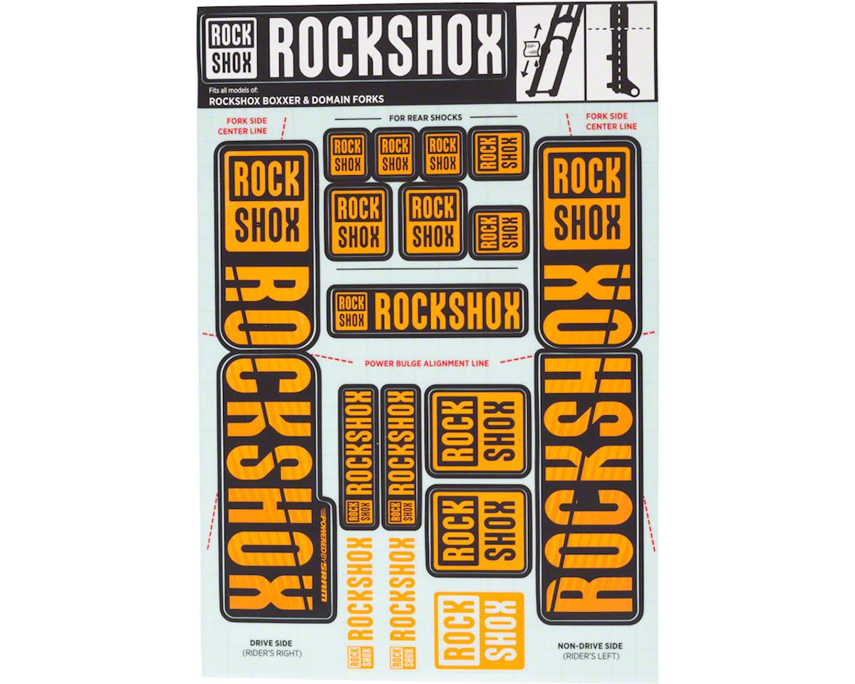 RockShox Decal Kit (35mm) (Dual Crown) (Orange)