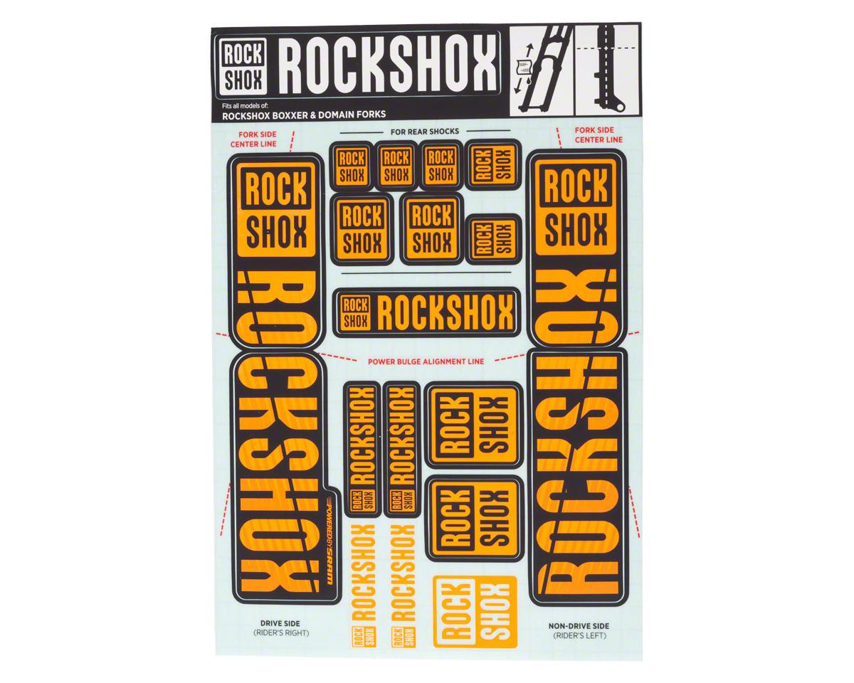 RockShox Decal Kit (35mm) (Dual Crown) (Orange)