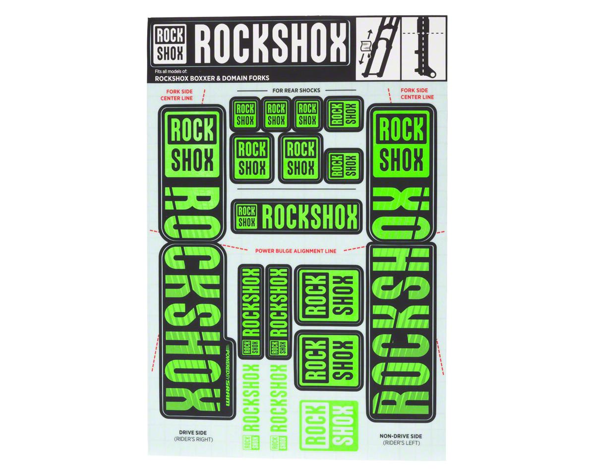 RockShox Decal Kit (35mm) (Dual Crown) (Green)
