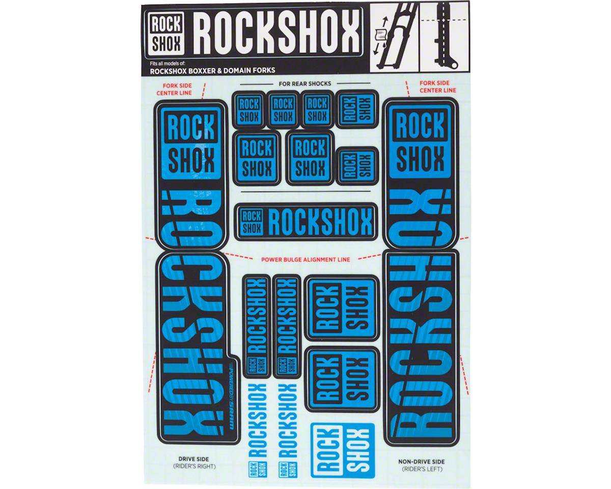 RockShox Decal Kit (35mm) (Dual Crown) (Blue)