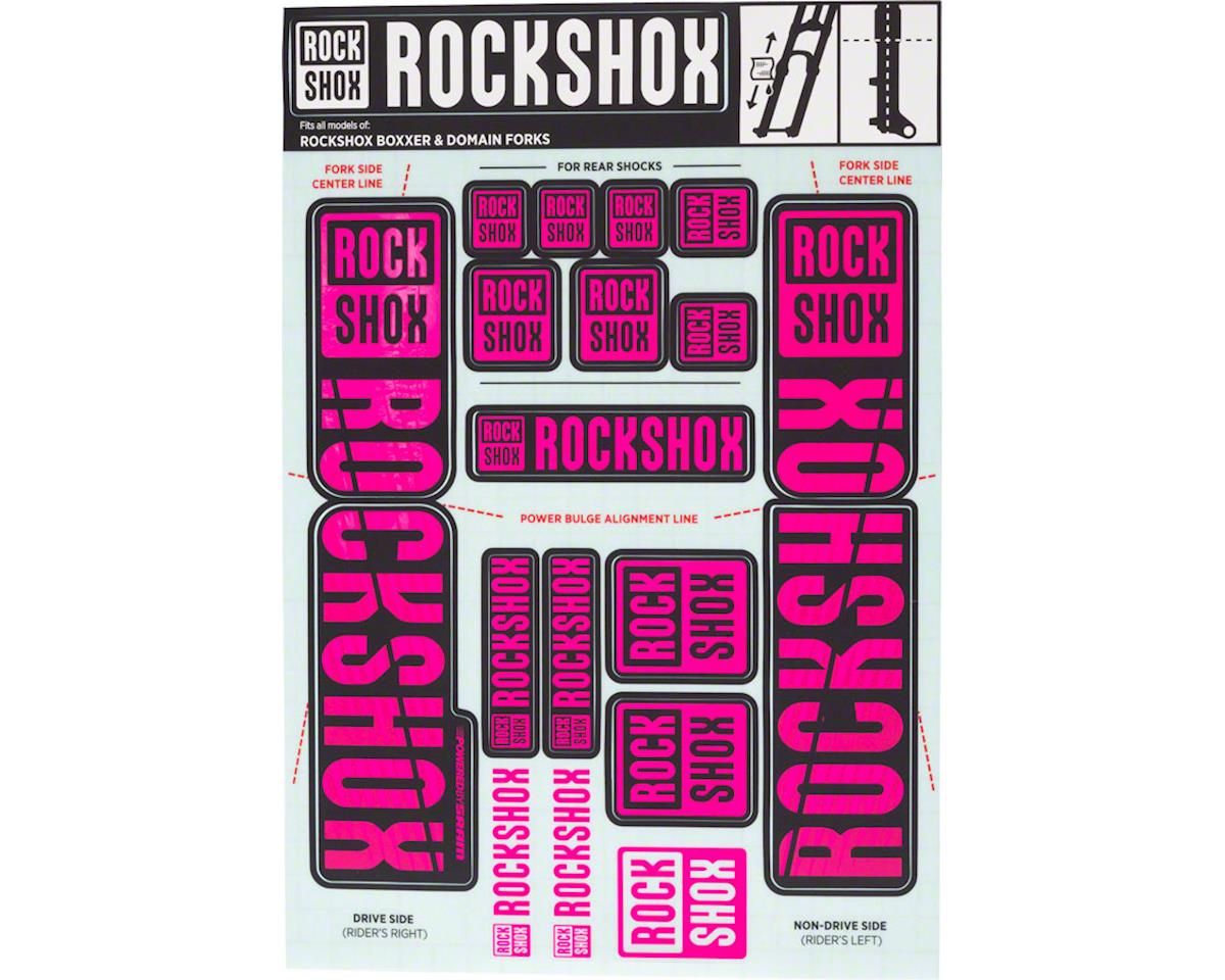 RockShox Decal Kit (35mm) (Dual Crown) (Magenta)