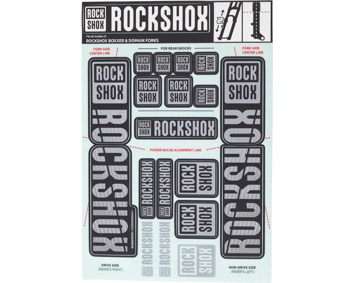 RockShox Decal Kit (35mm) (Dual Crown) (Grey)