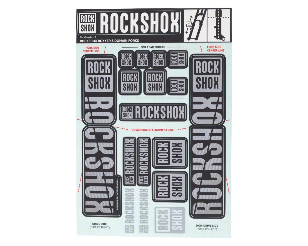 RockShox Decal Kit (35mm) (Dual Crown) (Grey)