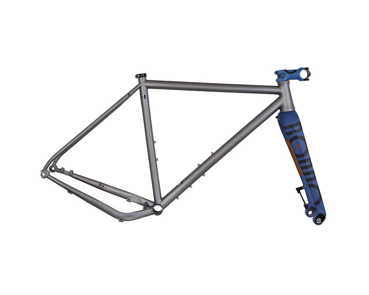 RUUT ST 700c road/gravel frame - grey/blue