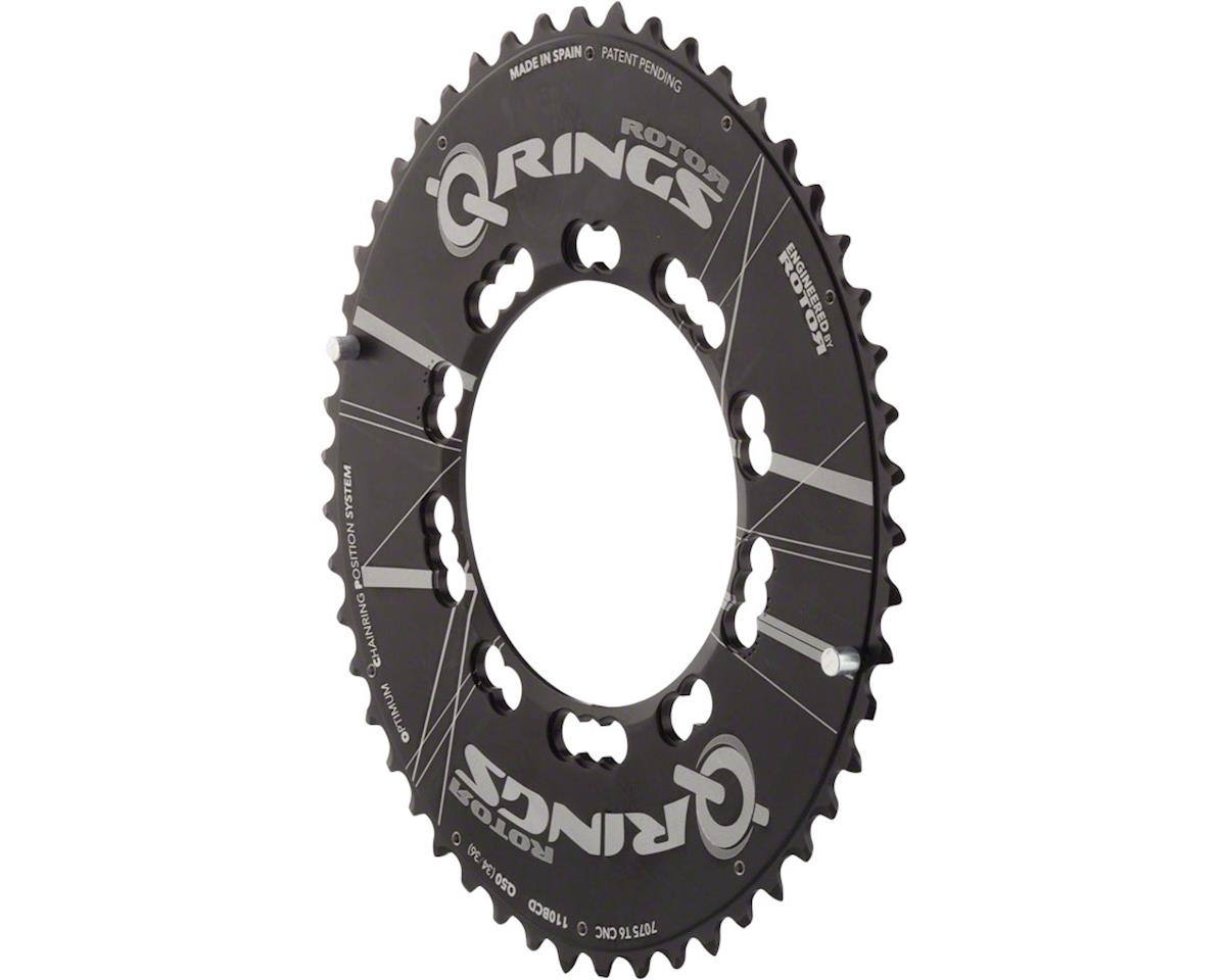Rotor Aero Q-Ring 110 x 5 BCD Five Oval Position Chainring: 50t outer for use wi