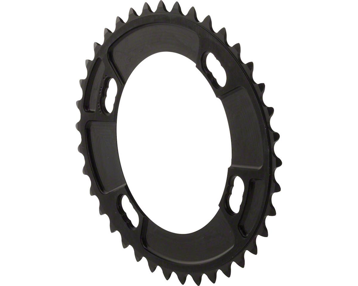 Rotor QXL Chainring: Black 44x110x4 Shimano