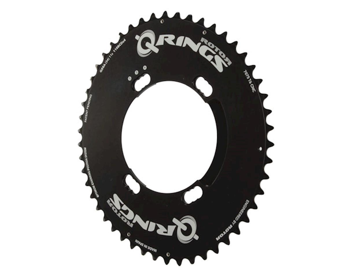Rotor Aero Q-Ring 110 x 4 Asymmetric BCD Three Position Oval Chainring: 50t oute