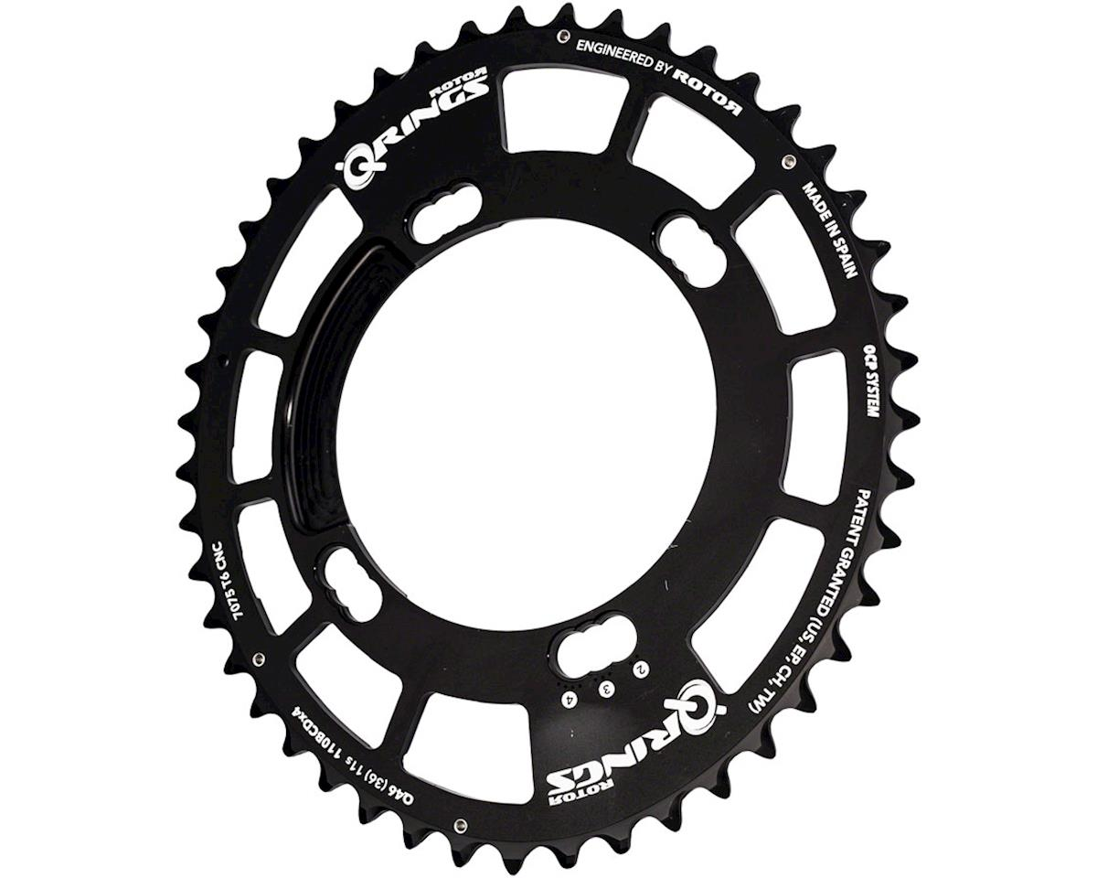 Rotor Q-Ring 110 x 4 Asymmetric BCD Three Position Oval Chainring: 46touter for