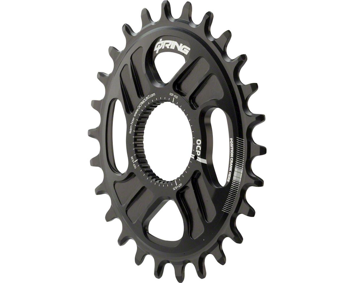 Rotor Q-Ring Direct Mount Oval Chainring: For Rotor Mountain Cranksets, 26t, Bla