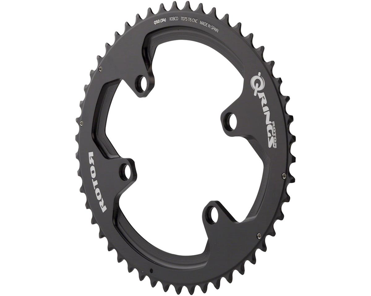 Rotor Q-Ring 110 x 4 Asymmetric BCD Oval Chainring: 50t outer for use with 34t i