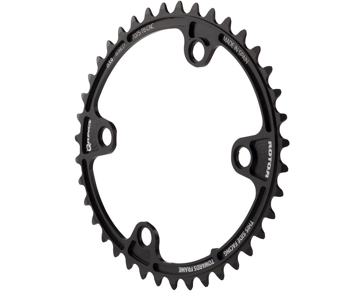 Rotor Q-Ring 110 x 4 Asymmetric BCD Oval Chainring: 39t inner for use with 53t o