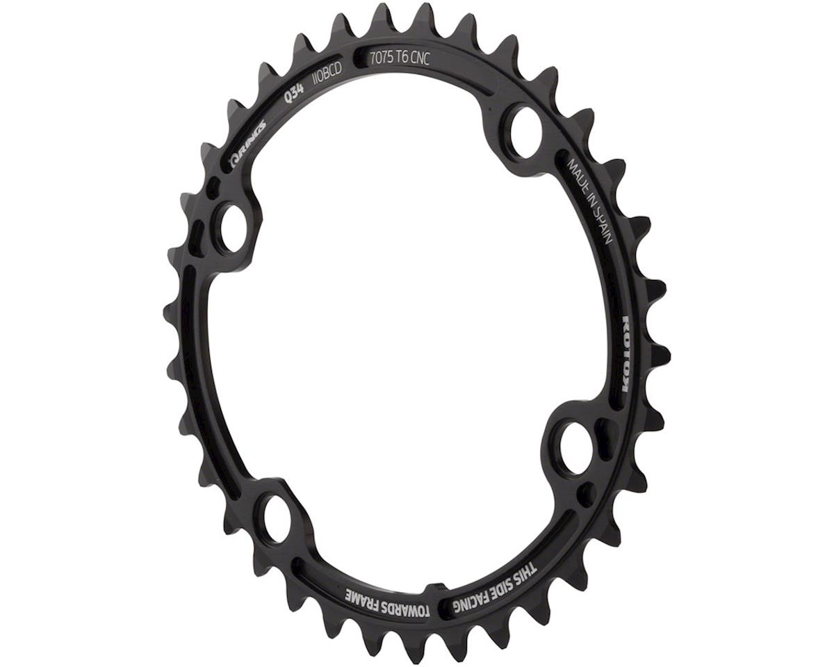 Rotor Q 110 x 4 Chainring: 34T Inner for Use With with 50T Outer, Oval