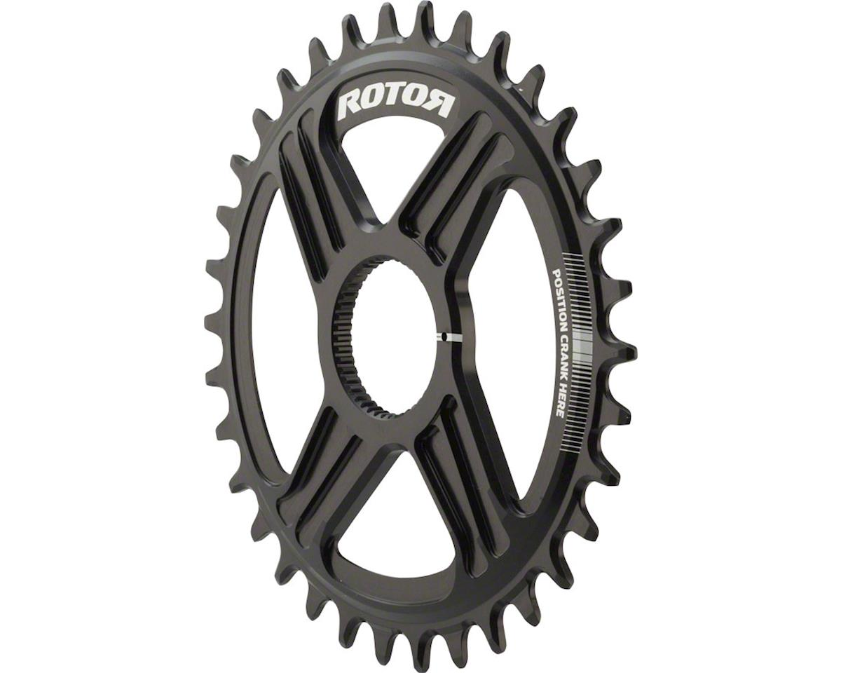 Rotor Round noQ-Ring Chainring: For Hawk and Raptor Cranksets, Direct Mount, 34T