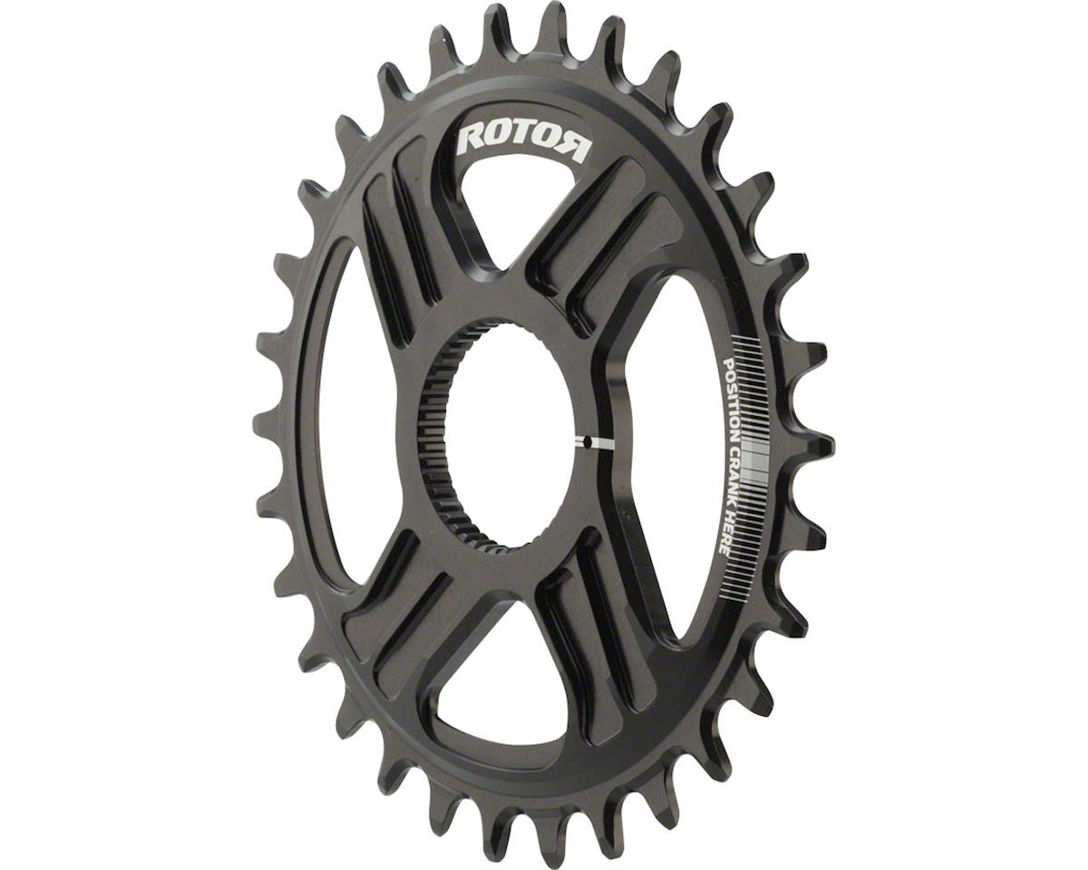 Rotor Round noQ-Ring Chainring: For Hawk and Raptor Cranksets, Direct Mount, 30T