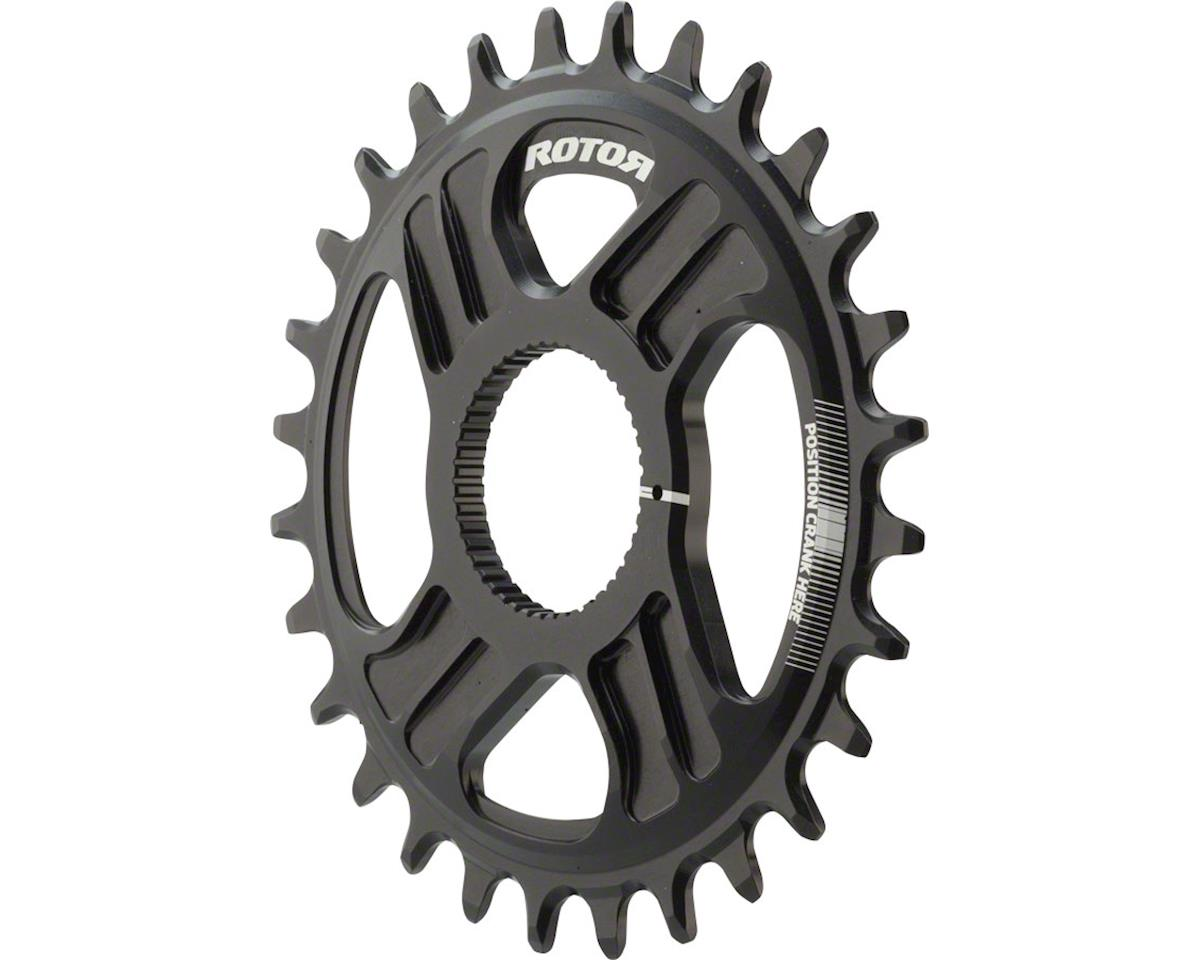 Rotor noQ Direct Mount Round Chainring: For Rotor Mountain Cranksets, 28t, Black