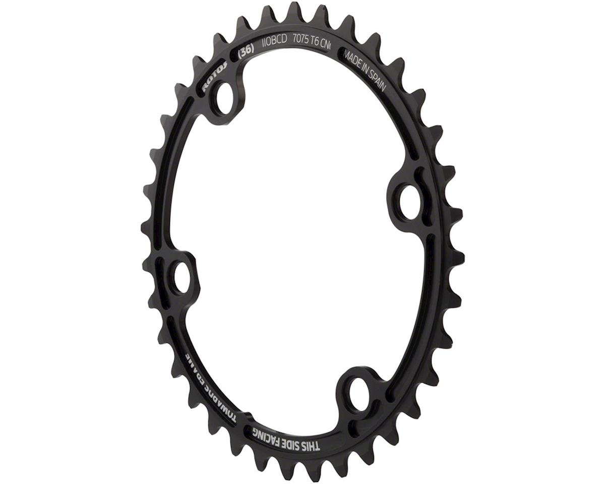 Rotor NoQ 110 x 4 Asymmetrical BCD Chainring: 36T Inner for use with 52T Outer,