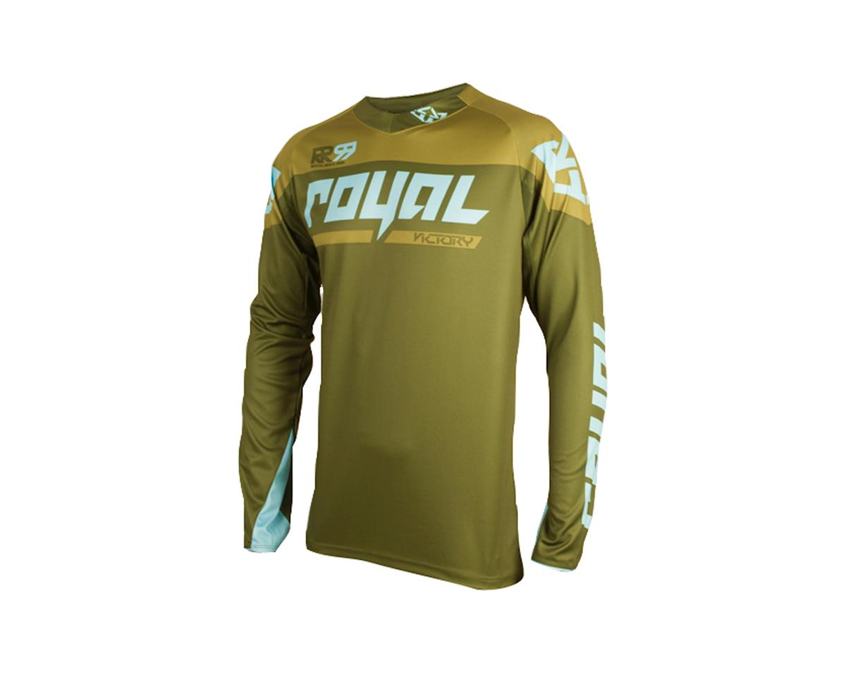 Royal Racing Victory Race LS MTB Jersey (Olive/Light Blue)