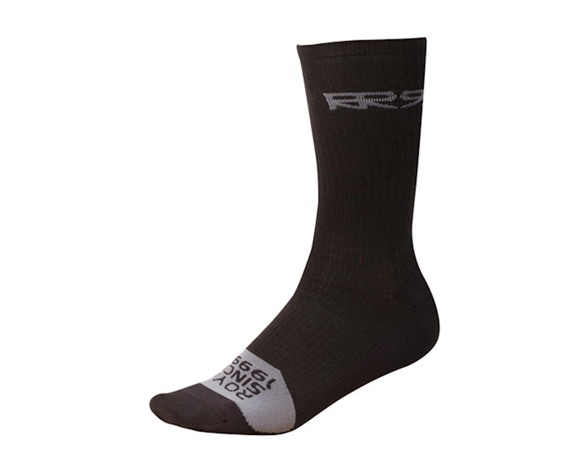 Crew socks, black/grey
