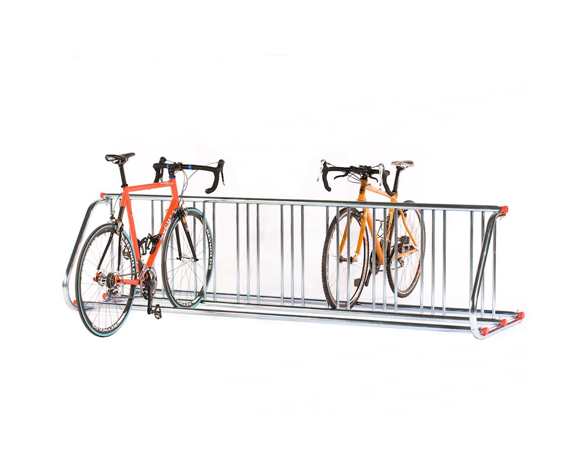 Saris Grid 9 Bike Pre-Galvanized Steel Outdoor Bike Rack