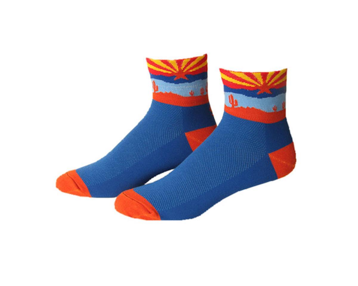 "Save Our Soles Arizona 2.5"" Socks (Blue) (M)"