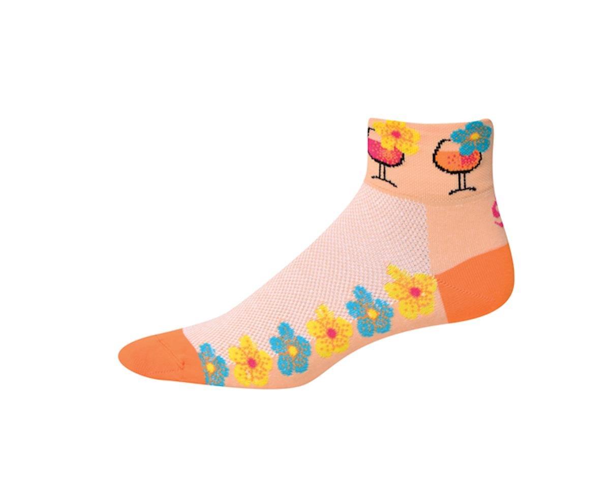 "Save Our Soles Bahama Mana 2"" Womens Socks (Orange)"