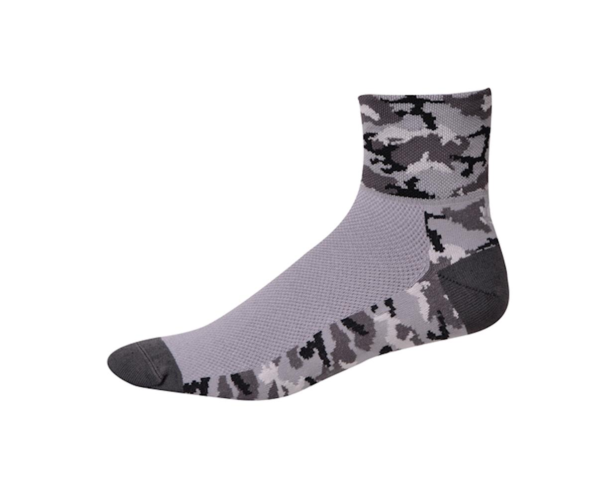 "Save Our Soles Camo-Night Ops 2.5"" Socks (Grey)"