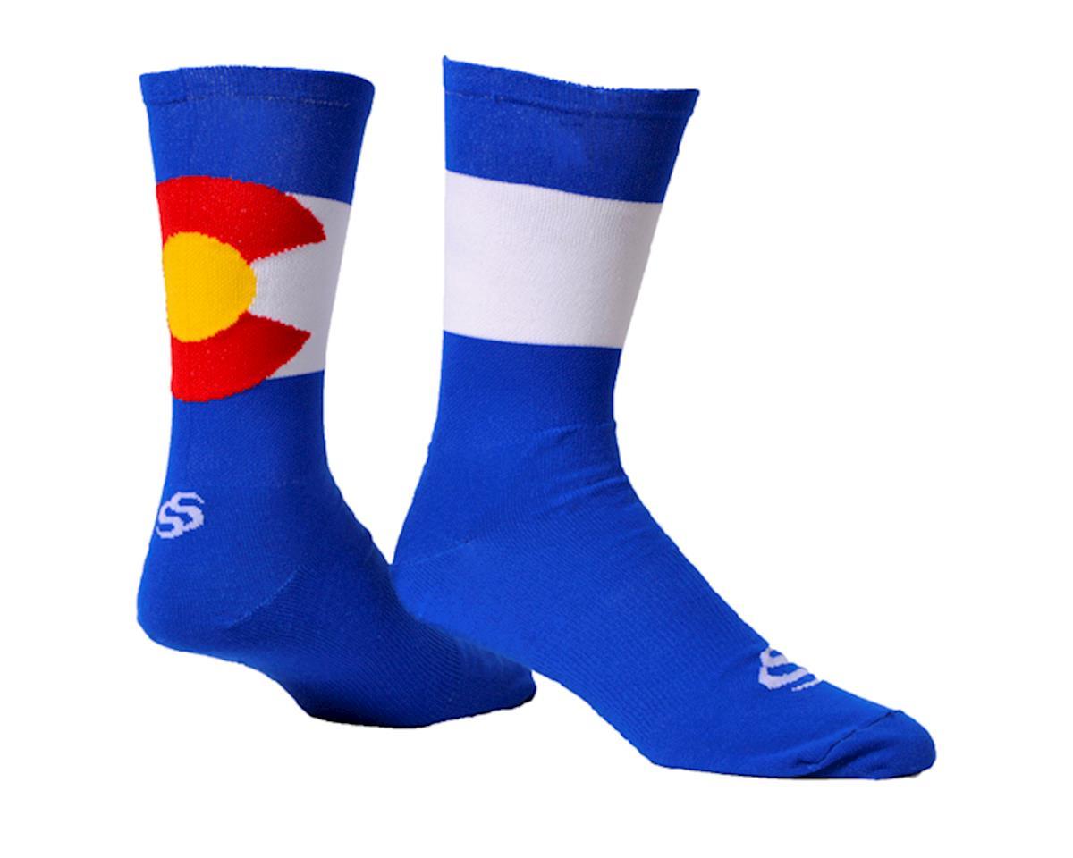 "Save Our Soles ColoRADo 7"" Socks (Blue) (M)"