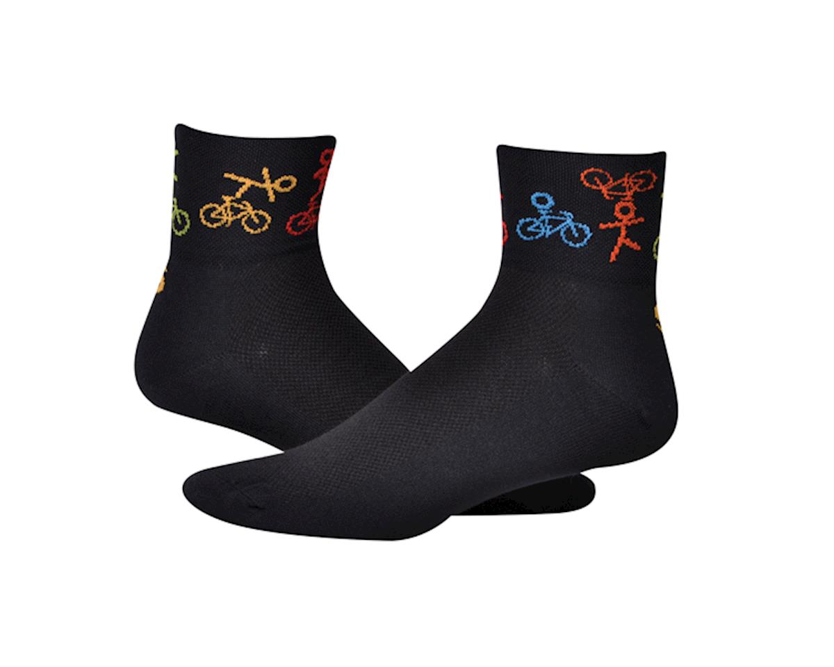 "Save Our Soles Joy Ride 2.5"" Socks (Black) (L)"
