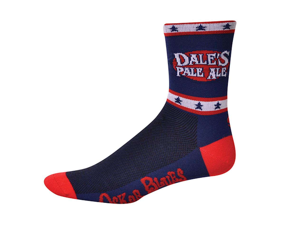 "Save Our Soles Oskar Blues Dale's 5"" Socks (Blue) (L)"