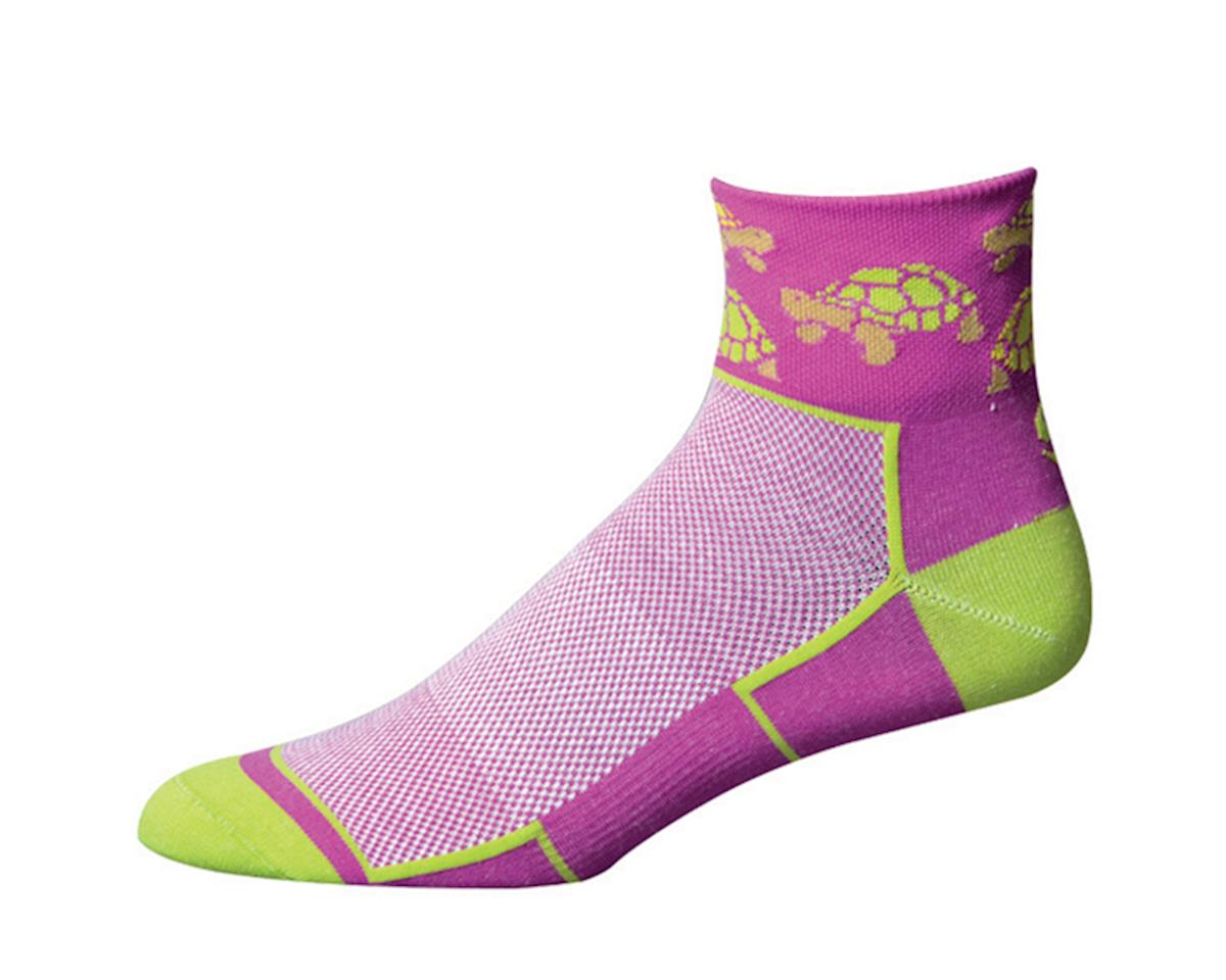 "Save Our Soles See Turtle 2.5"" W]omens Socks (Purple) (S)"