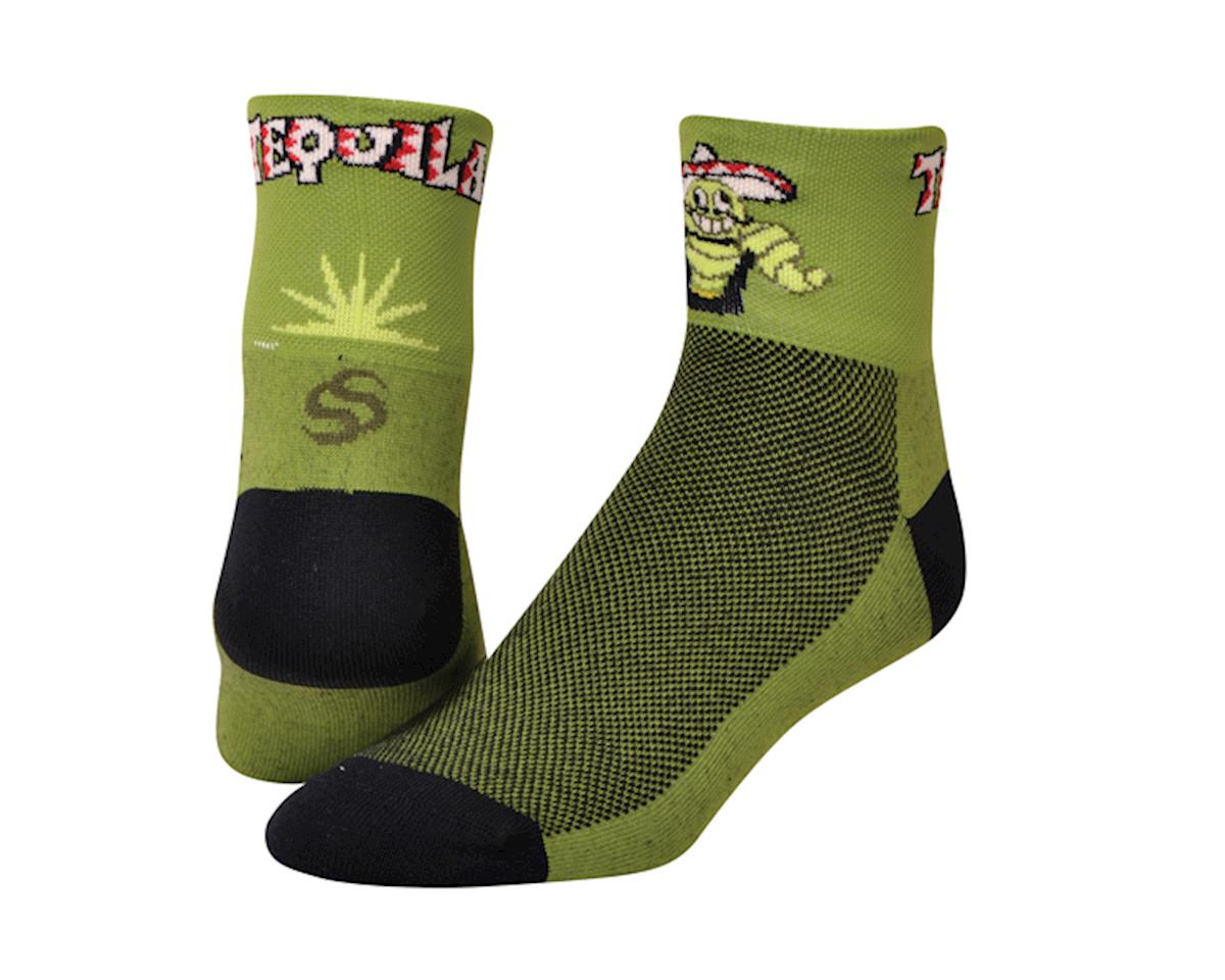 """Save Our Soles Tequila 2.5"""" Socks (Green) (XL)"""