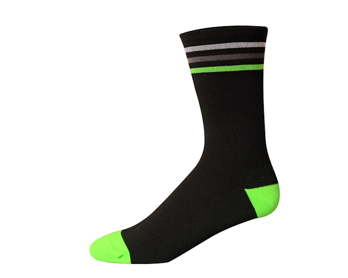 """Save Our Soles Tru Sole Addi 6"""" Socks (Black/Pink) (M)"""