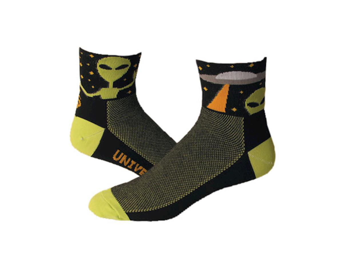 "Save Our Soles Universal Peace 2.5"" Socks (Black) (L)"