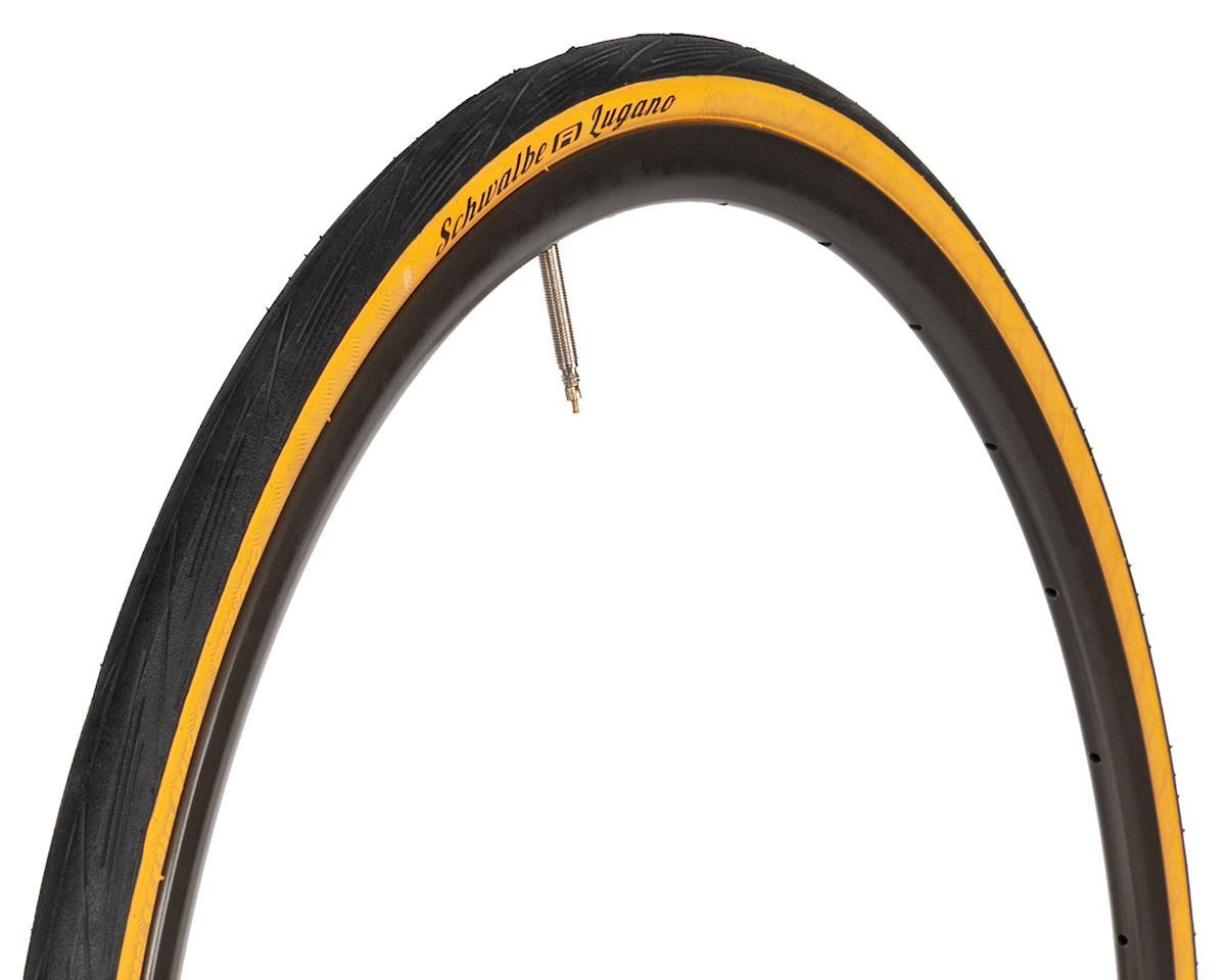 Schwalbe Lugano Tire (Wire Bead) (Black/Tan) (700 x 25)